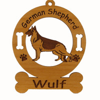 3221 German Shepherd Standing Ornament Personalized with Your Dog's Name