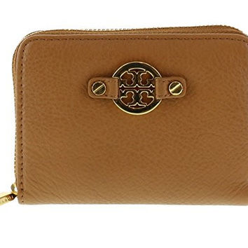 Tory Burch Amanda Zippered Coin Case in Royal Tan Leather