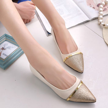 Pointed Toe Slip-On Comfortable Single Casual Flats