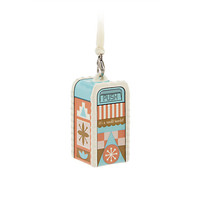 Disney Parks It's a Small World Trash Can Ceramic Christmas Ornament New Tags