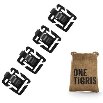 OneTigris Tactical Hydration Tube Clips Bicycle Water Bottle Tube Buckle for MOLLE Webbing Backpack 4pcs/lot
