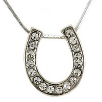 Horseshoe Pendant Necklace Lucky Western Cowgirl Horse Shoe Charm Ladies Women Fashion Jewelry