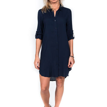 In the Navy Now Shirt Dress
