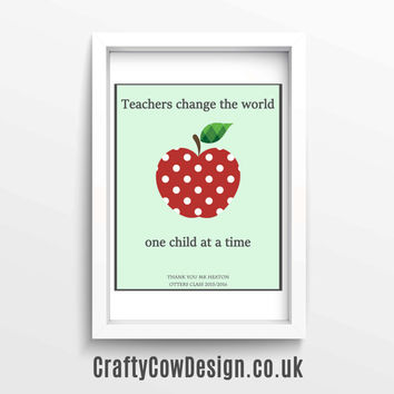 It takes a big heart to teach little minds teacher gift, gift for teacher,personalized teacher gift, unique gifts for teachers,teacher print