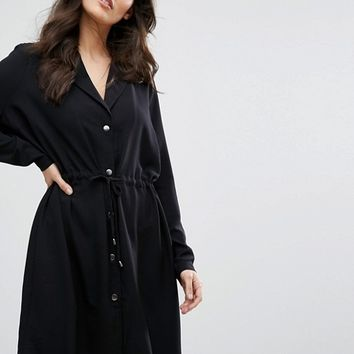 Y.A.S Loose Button Up Dress at asos.com
