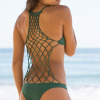 The Girl and The Water - Mikoh Swimwear 2014 - Xavier One Piece Seaweed - $202