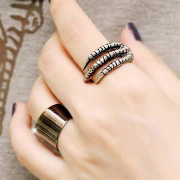 Womens Handmade 2PCS Old Punk Ring Uniquering-104