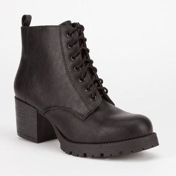 Soda Nevitt Womens Military Boots Black  In Sizes