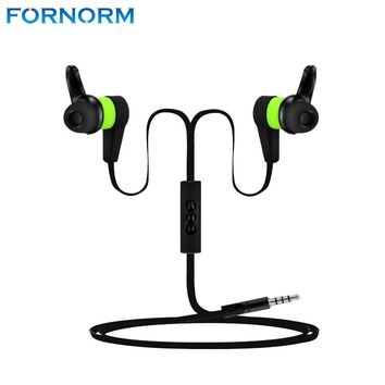 FORNORM P1 In-ear Wired Sweat-Proof Headphones for Exercise