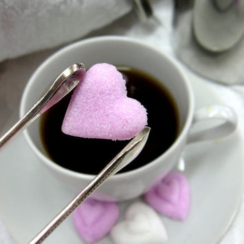 3 Dozen Heart Shaped Sugar Cubes to Serve with Coffee or Tea