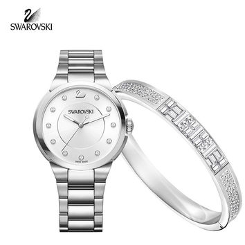 Swarovski Jewelry ETHIC SET CITY & BANGLE Swiss Watch Stainless Steel #5223395