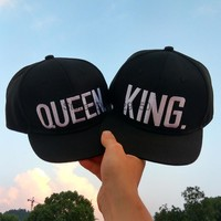 Couple KING QUEEN Snapback Hats For Men/Women