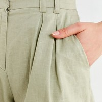 EVIDNT High-Rise Pleated Short | Urban Outfitters