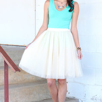 Secret Garden Tulle Skirt {Cream}