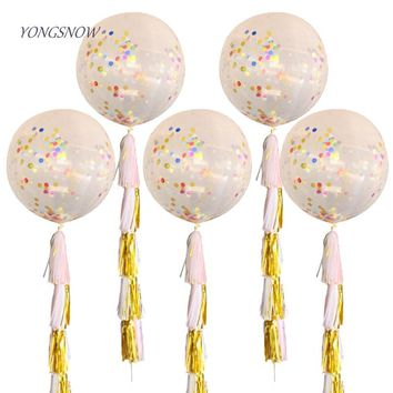 Funny Creative 36 inch Giant Balloons Tissue Paper Confetti Balloon Christmas Wedding Kids Birthday Party Decorative Supplies