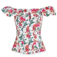 Atomic Summer Off Shoulder Floral Corset