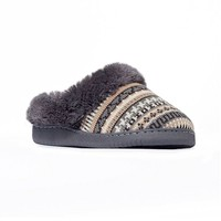 Women's Knit Clog Slippers (Brown)