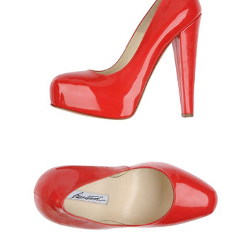 Brian Atwood Patent Orange Pumps
