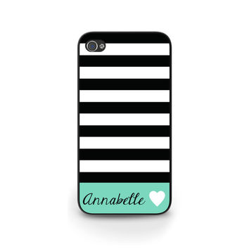 iPhone 6 Case, iPhone 5 Case, iPhone 5s/5C Case, Personalized iPhone Case, Custom iPhone Cover,Stripes with Your Name - 0027