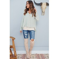 Lost On You Long Sleeve Top (Wood Sage)