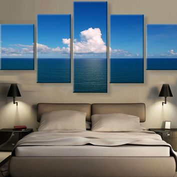 Frame 5 Panels Painting For Living Room Decor Decor Modular High Quality Pictures Wall Pictures For living room