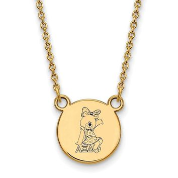 14K Plated Silver Alpha Xi Delta Small Enamel Necklace