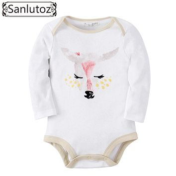 Sanlutoz Baby Romper Girl Cute Baby Clothes Jumpsuits Animal Deer Printing Costume Infant Clothing Winter Long Sleeve