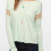 Urban Outfitters - Daydreamer LA Mesh-Inset Boxy Tee