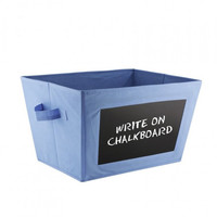 Storage Basket With Chalk Board Blue