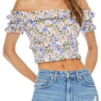 ASTR the Label Tori Off the Shoulder Crop Top | Nordstrom