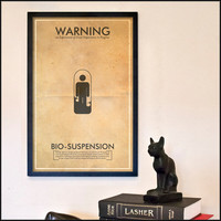 Fringe Science Warning Posters - Bio-Suspension Inspired Vintage Iconography 11x17 Print