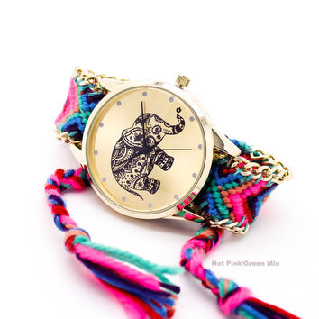 Elephant bracelet watch (5 colors)