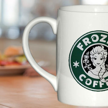disney frozen starbucks logo mug design For Ceramic Mug Design