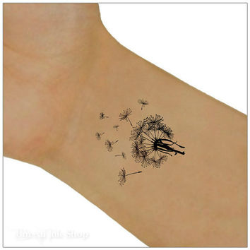 Temporary Tattoo 2 Dandelion Wrist Tattoos
