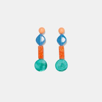COLOURFUL RESIN EARRINGS DETAILS