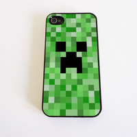 Minecraft inspired Creeper case for iPhone 4 and by KonekoStore