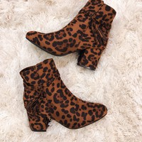 Remi Tassel Ankle Booties in Leopard