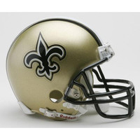 New Orleans Saints Miniature Replica NFL Helmet w-Z2B Mask