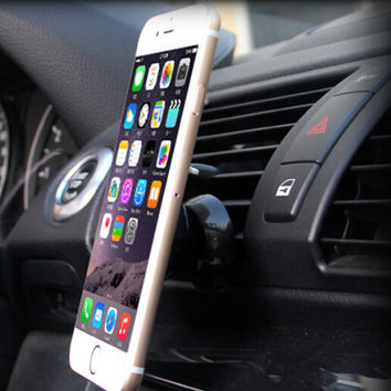 Mini Magnetic Car Air Vent Smartphone Holder