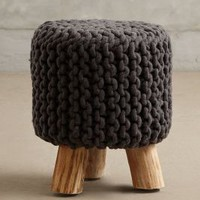 Handknit Tuffet by Anthropologie