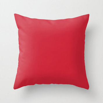 Red Pillow Cover Circus Solid Red Color Pillow Case 16x16 18x18 20x20 Square Nursery Baby Child's Apartment Home Room Decor