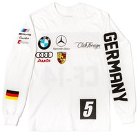 ONETOW Club Foreign Long Sleeve T Shirt German Series in White