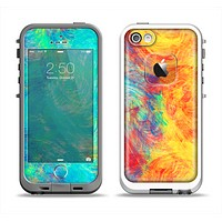 The Vibrant Colored Messy Painted Canvas Apple iPhone 5-5s LifeProof Fre Case Skin Set