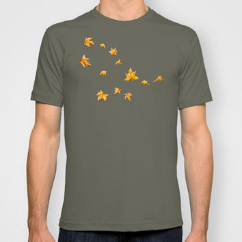 Leaves pattern T-shirt by Timone | Society6
