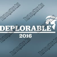 Deplorable 2016 Decal | Hillary For Prison | Trump For President | Make America Great Again | Donald Trump GOP Party 2016 | Republican | 394