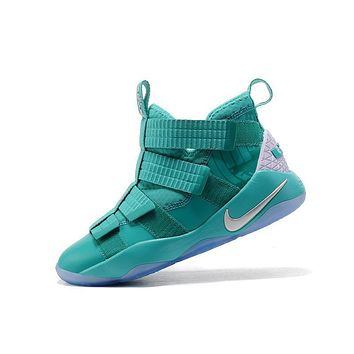 Nike LeBron Soldier 11 Green Men Basketball Sneakers Sports Shoes