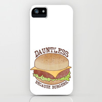 Dauntless - Because Burgers iPhone & iPod Case by Perrin Le Feuvre | Society6