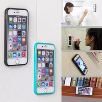 Eleoption Anti Gravity Magical Stick Rubber Phone Case Cover For iPhone 7