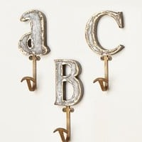 Marquee Letter Hook by Anthropologie in Assorted Size: