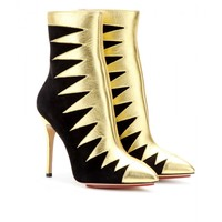 charlotte olympia - hazel leather and suede ankle boots
